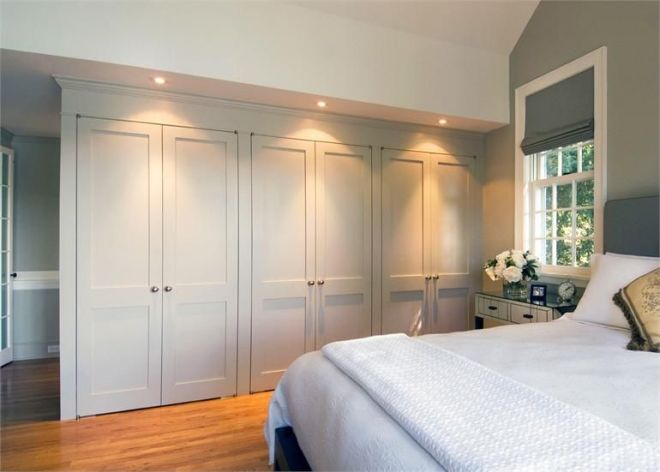 Built in closet wall great storage space home