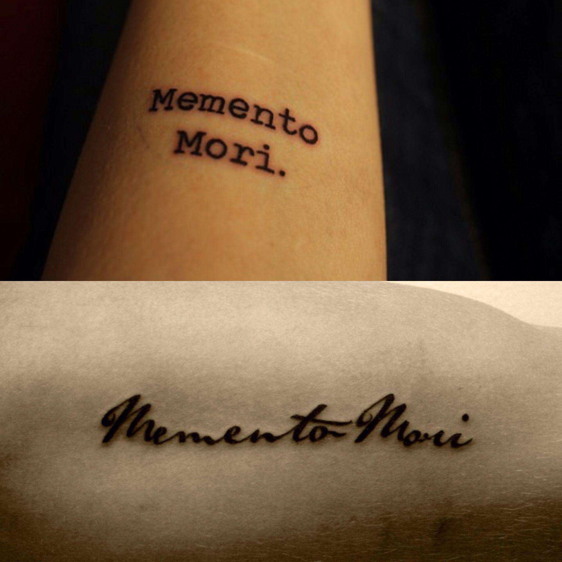 Memento Mori Remember you must die. Tattoos Pinterest
