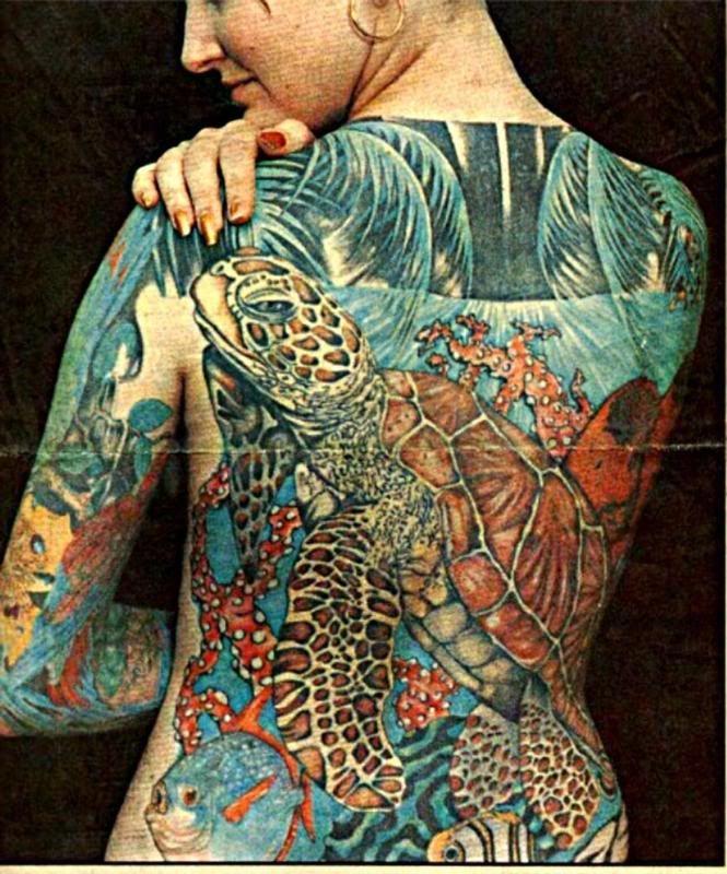 Full Back Sea Turtle Tattoo! Sea Turtle Tattoos