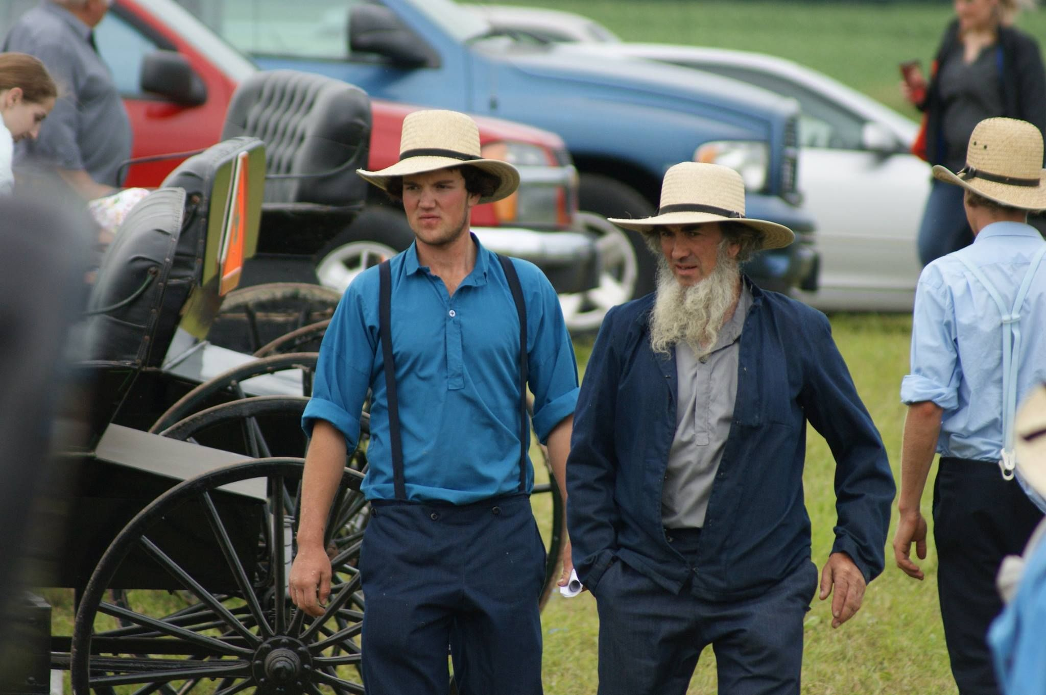 Lucknow Amish father and son. Milverton, Ontario Die