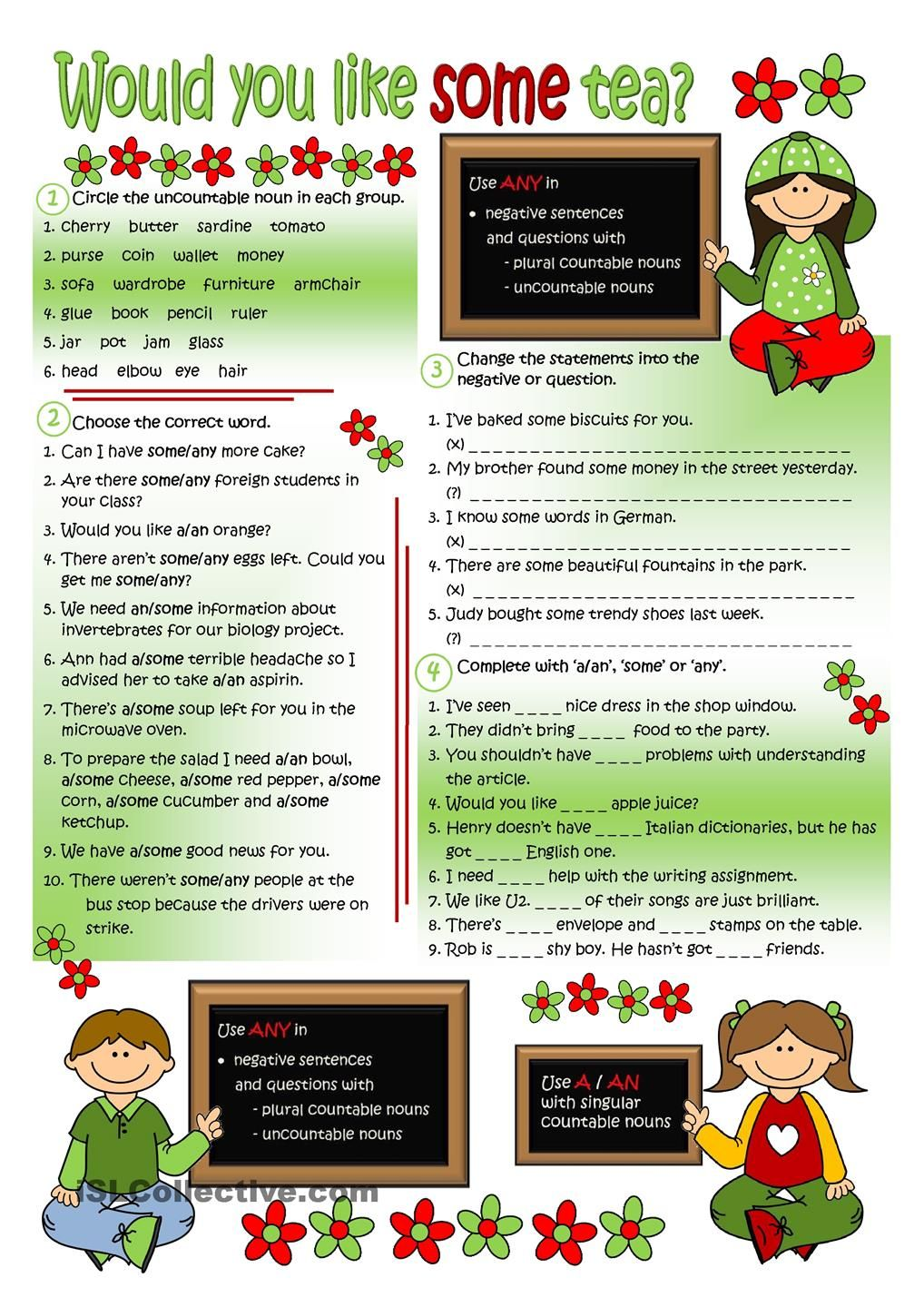 Would you like some tea? English activities Pinterest