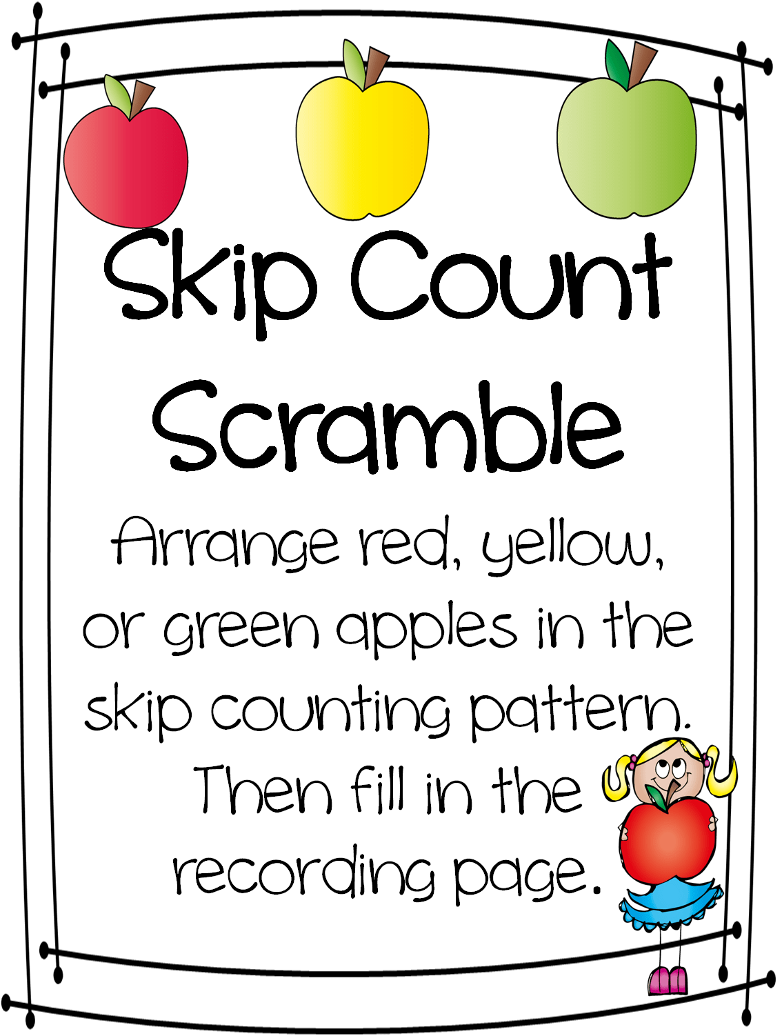 Hello Everyone We Are Working Hard This Week On Skip Counting I Decided I Needed To Put