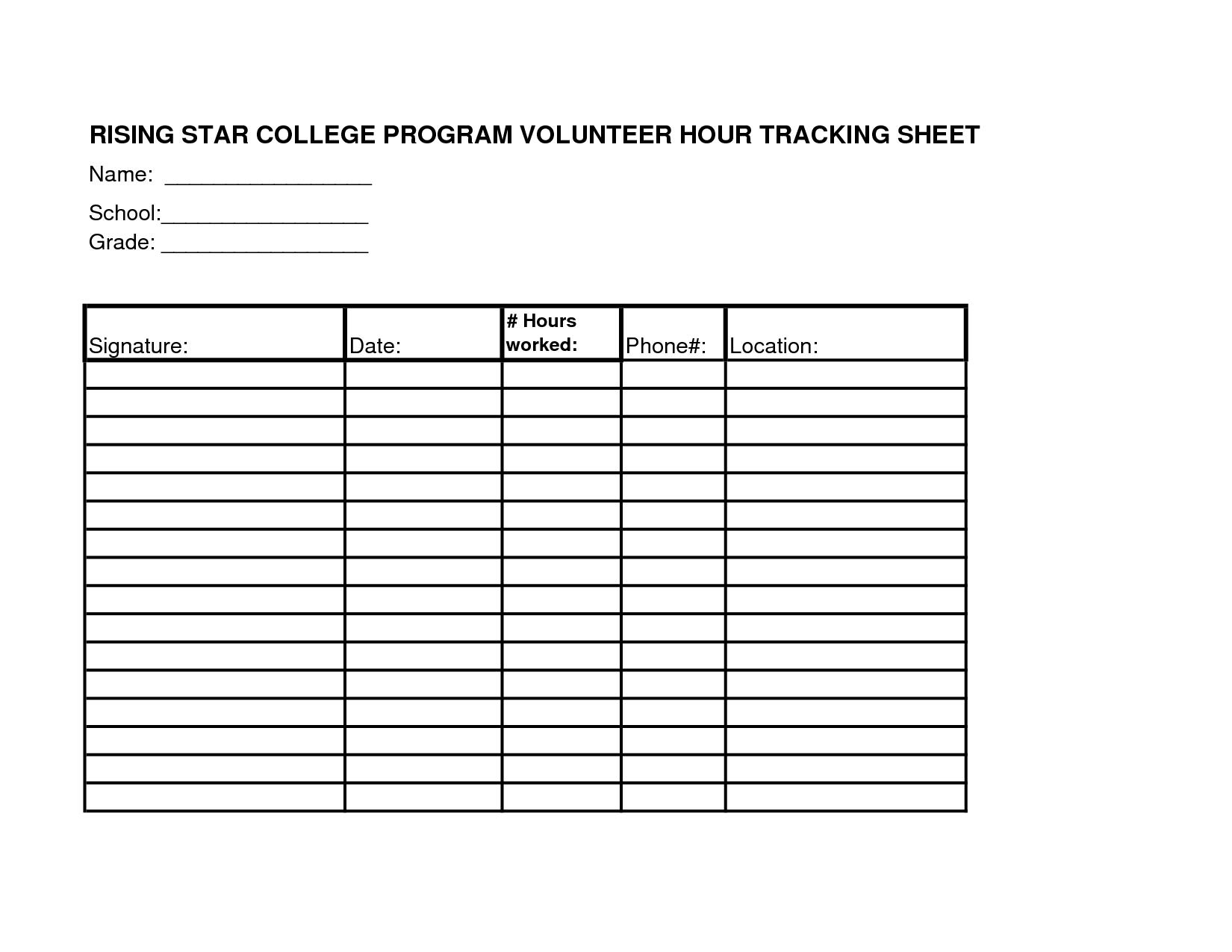Work Hours Worksheet Template Printable Worksheets And