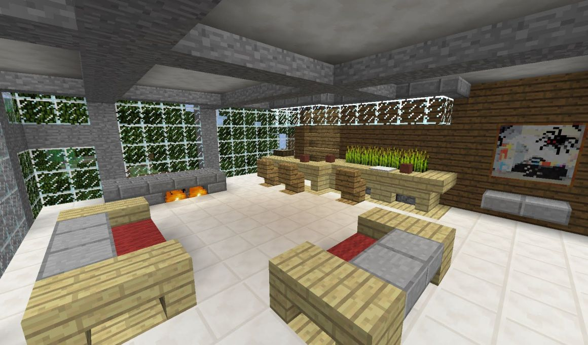 here's a video with terriffic ideas for decorating your minecraft