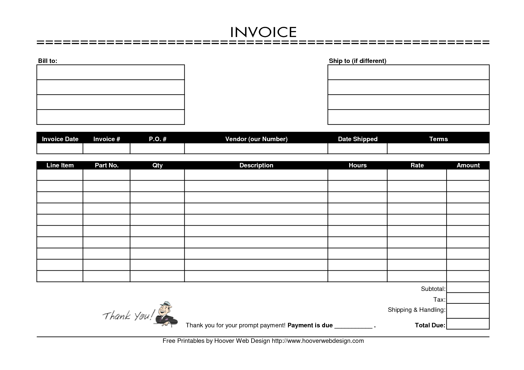 Invoice Template Free Mac Word allbotsinfo – Free Blank Forms