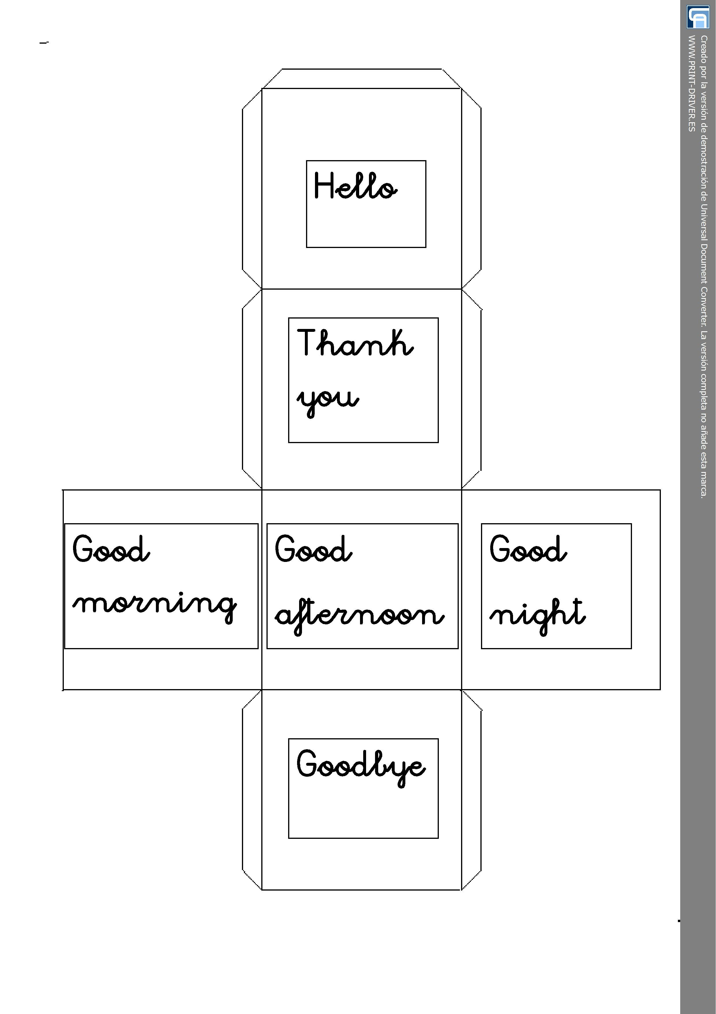 Cube Greetings Worksheet Year One Personal Teaching Resources Esl Instructions Students Can