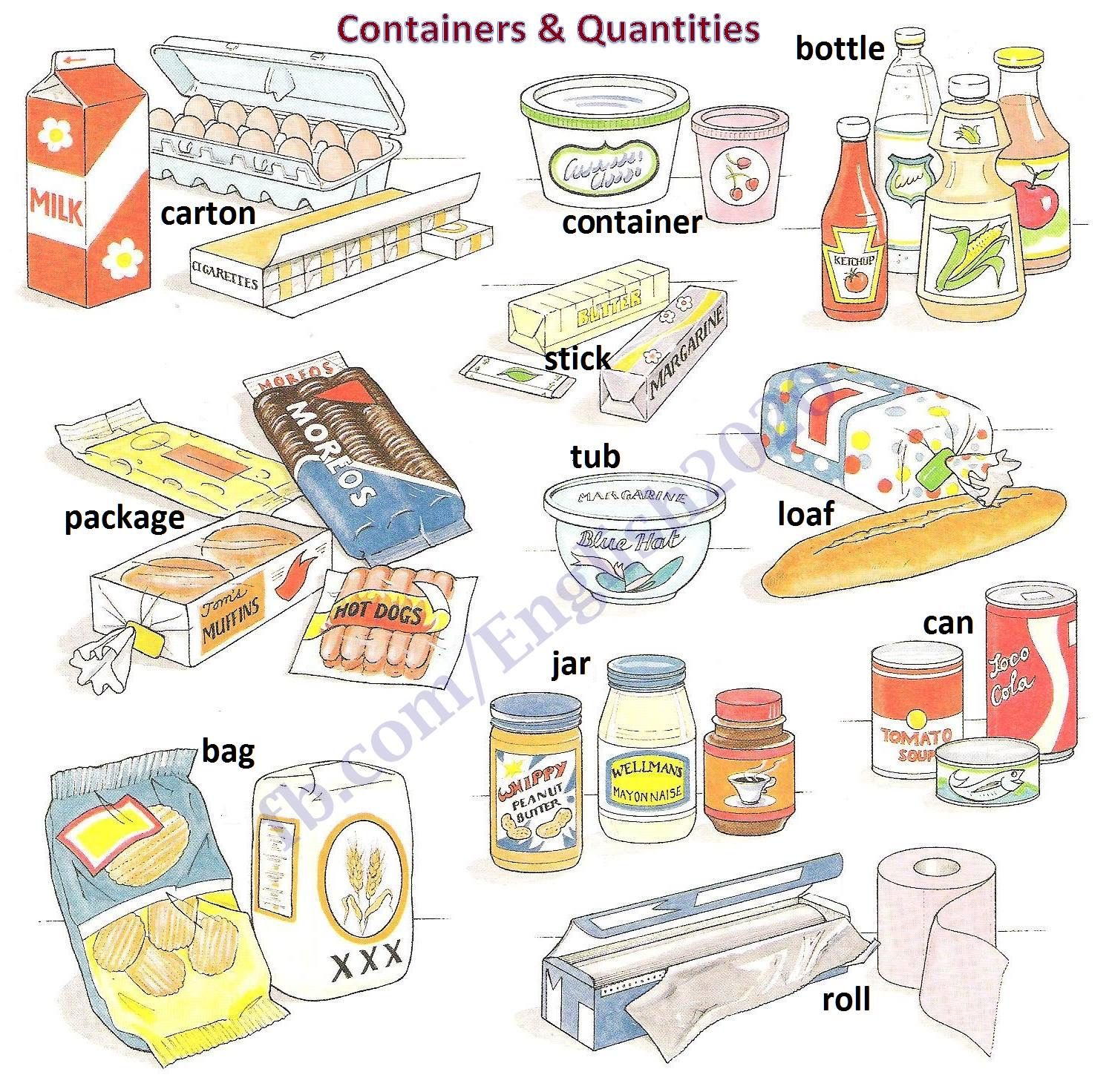 Containers Amp Quantities
