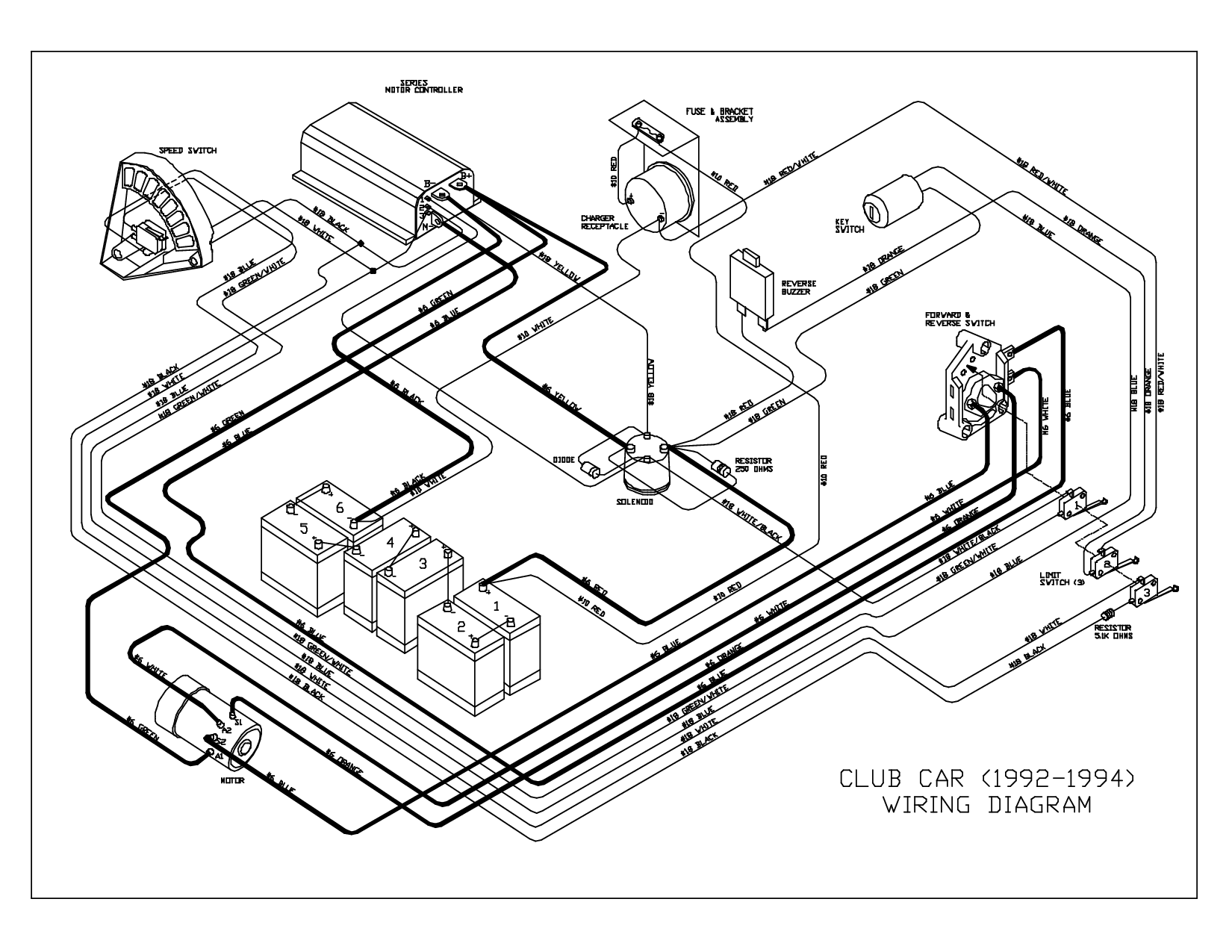 1995 Club Car Wiring Diagram