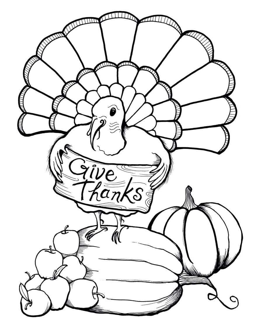 Thanksgiving Coloring Page Thanksgiving Printable