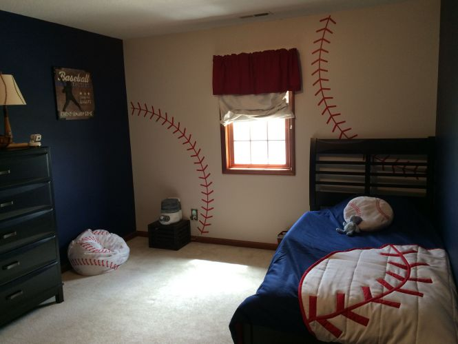 If You Or Your Family Are Huge Baseball Fans Why Not Create A Themed Bedroom There So Many Diffe Items Available To Super Cute
