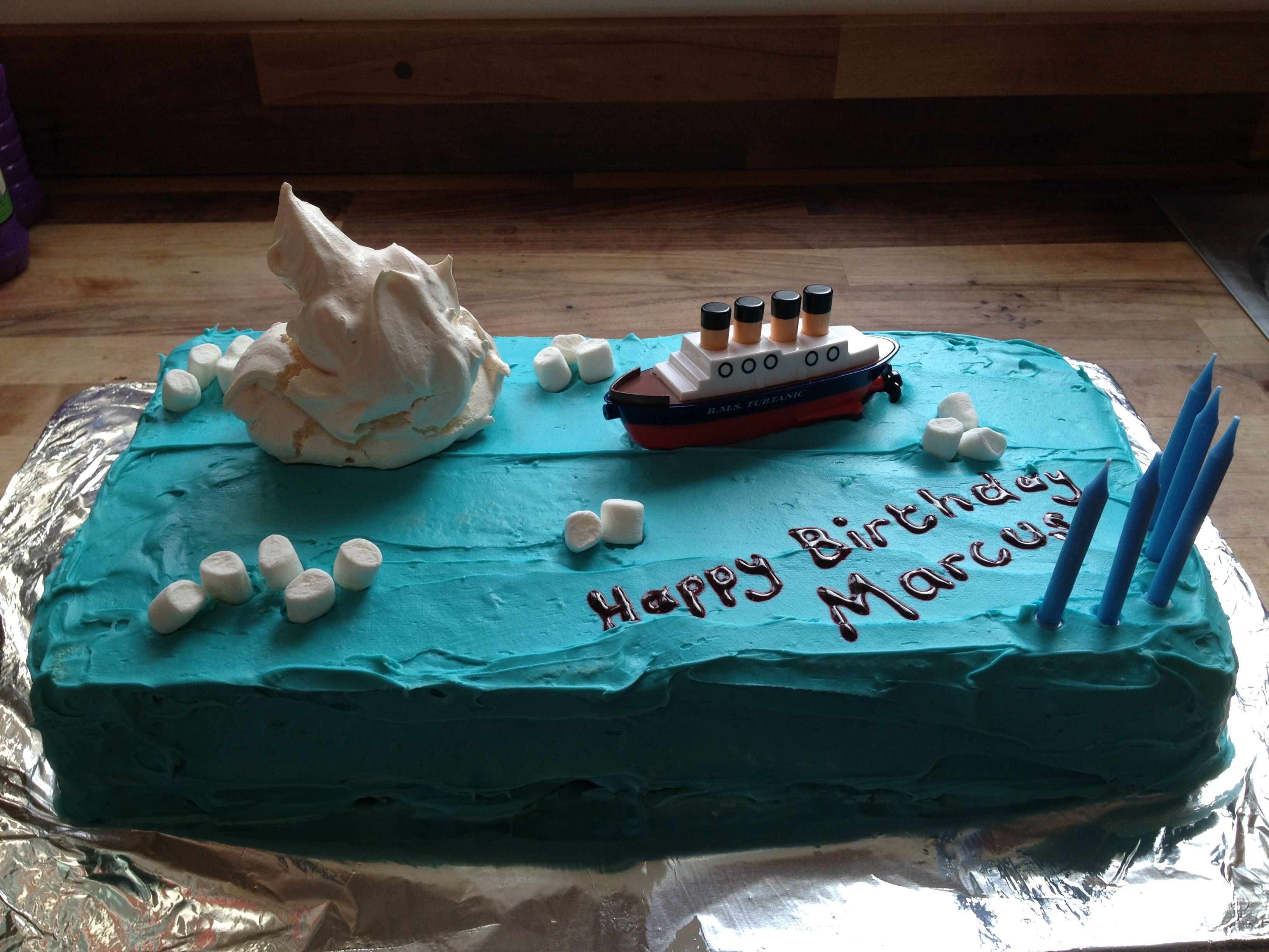 Titanic Birthday Cake Food Pinterest Titanic