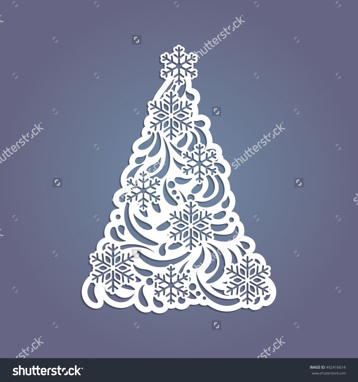 Christmas Tree Cut Out Of Paper Template For Christmas