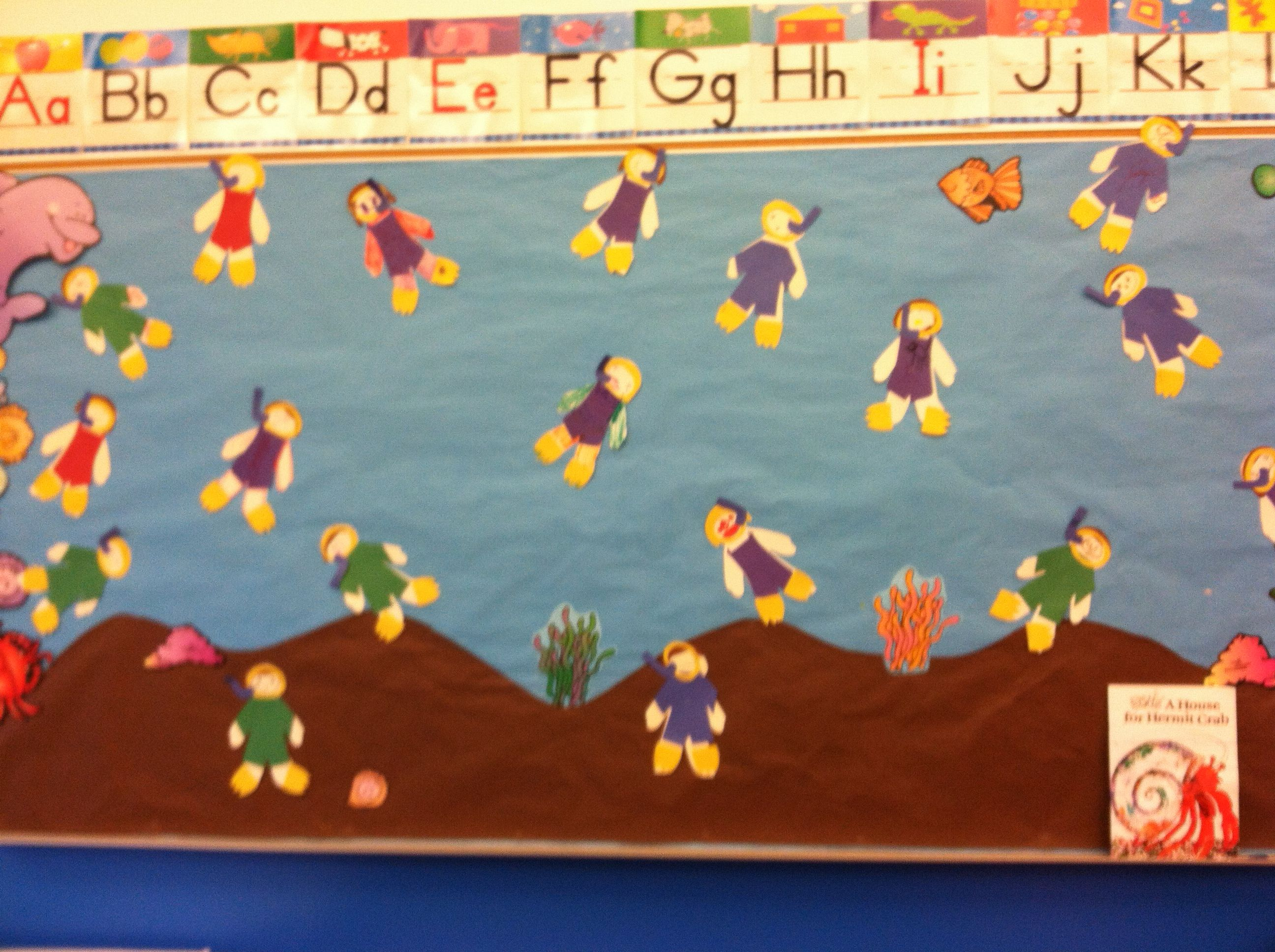 Preschool Ocean Theme Bulletin Board