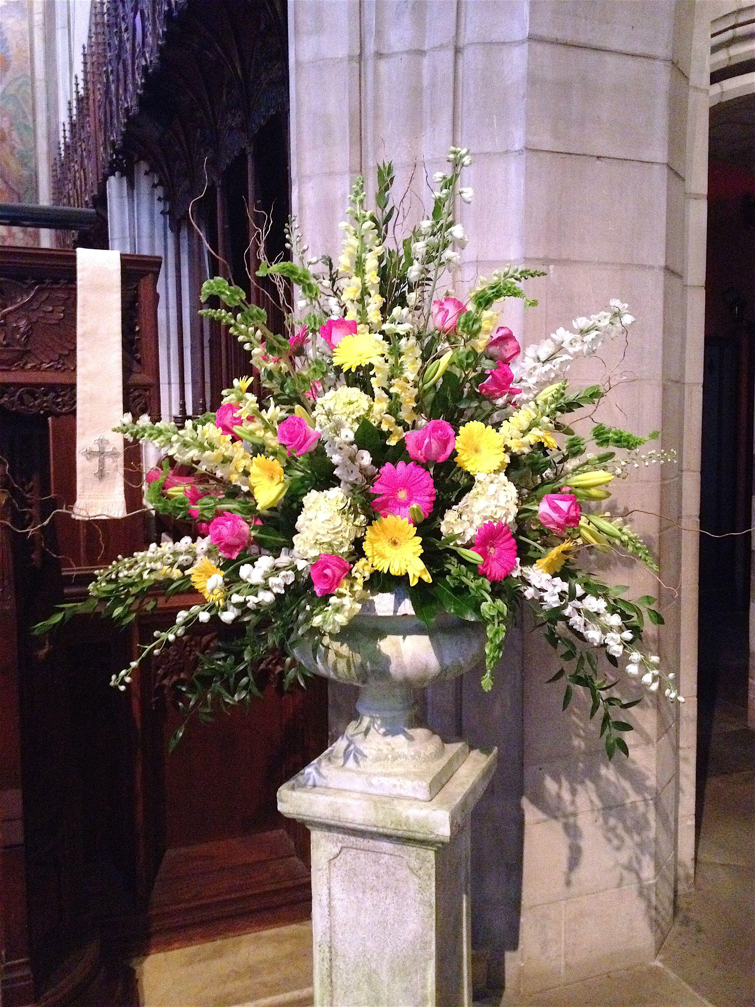Easter pedestal Church flowers Pinterest Easter