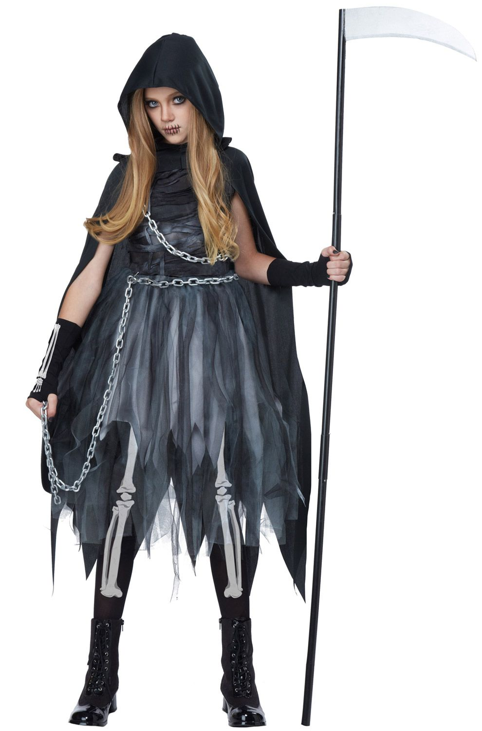 Reaper Girl Child Costume Scariest halloween costumes
