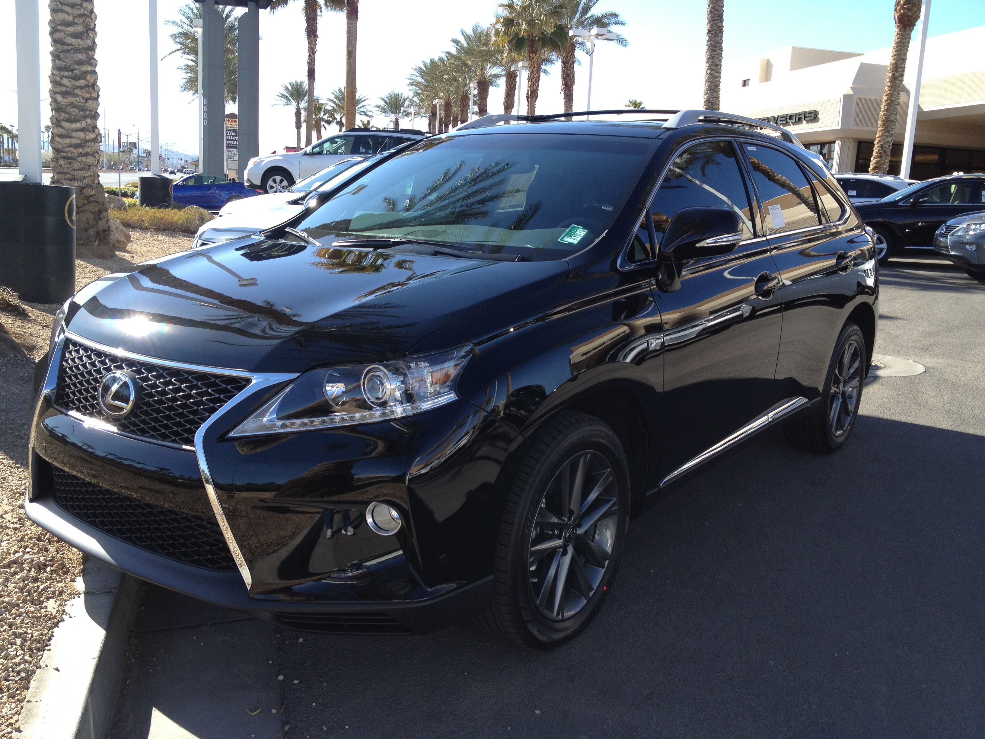 Lexus RX350 Black with black rims My dream vehicle