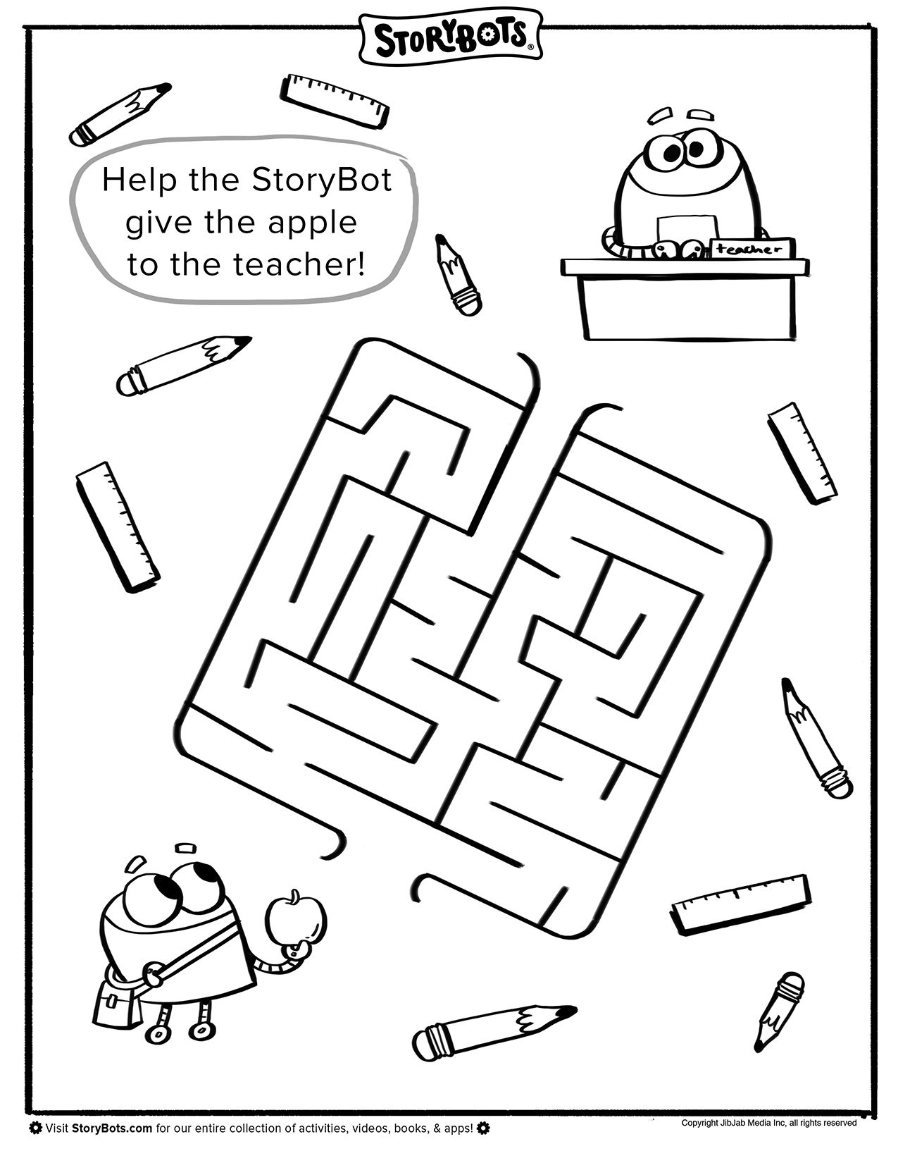 Back To School Maze