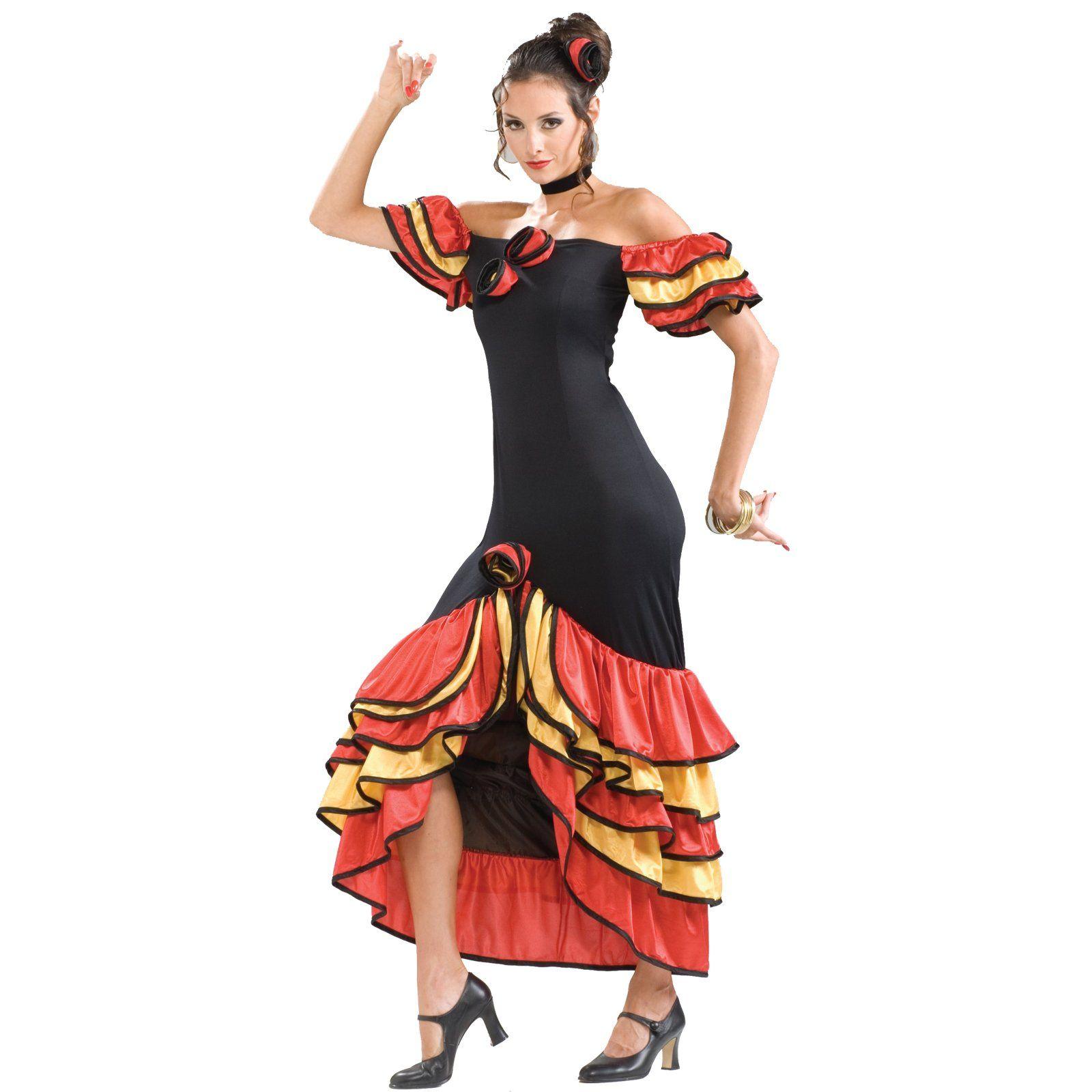 Women's Flamenco Dancer Costume Spanish, Spanish costume