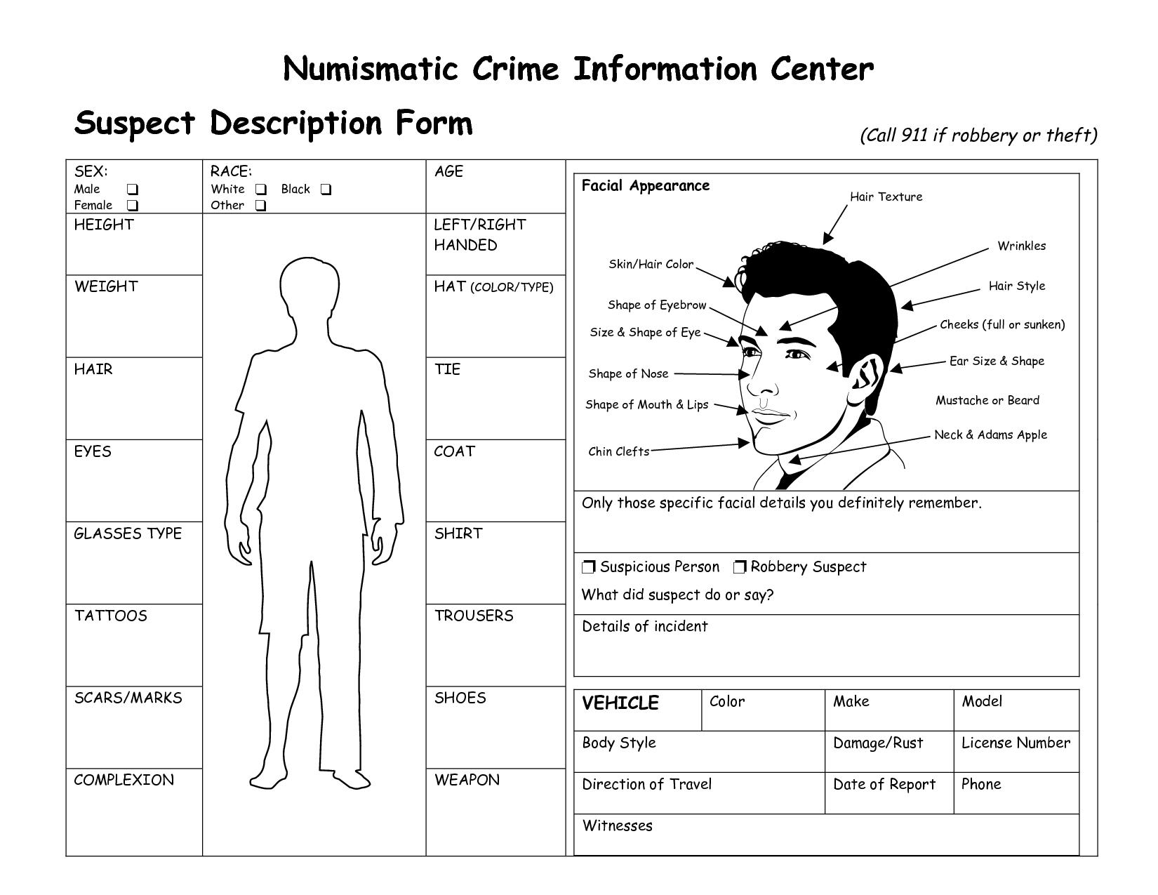 Suspect File Template