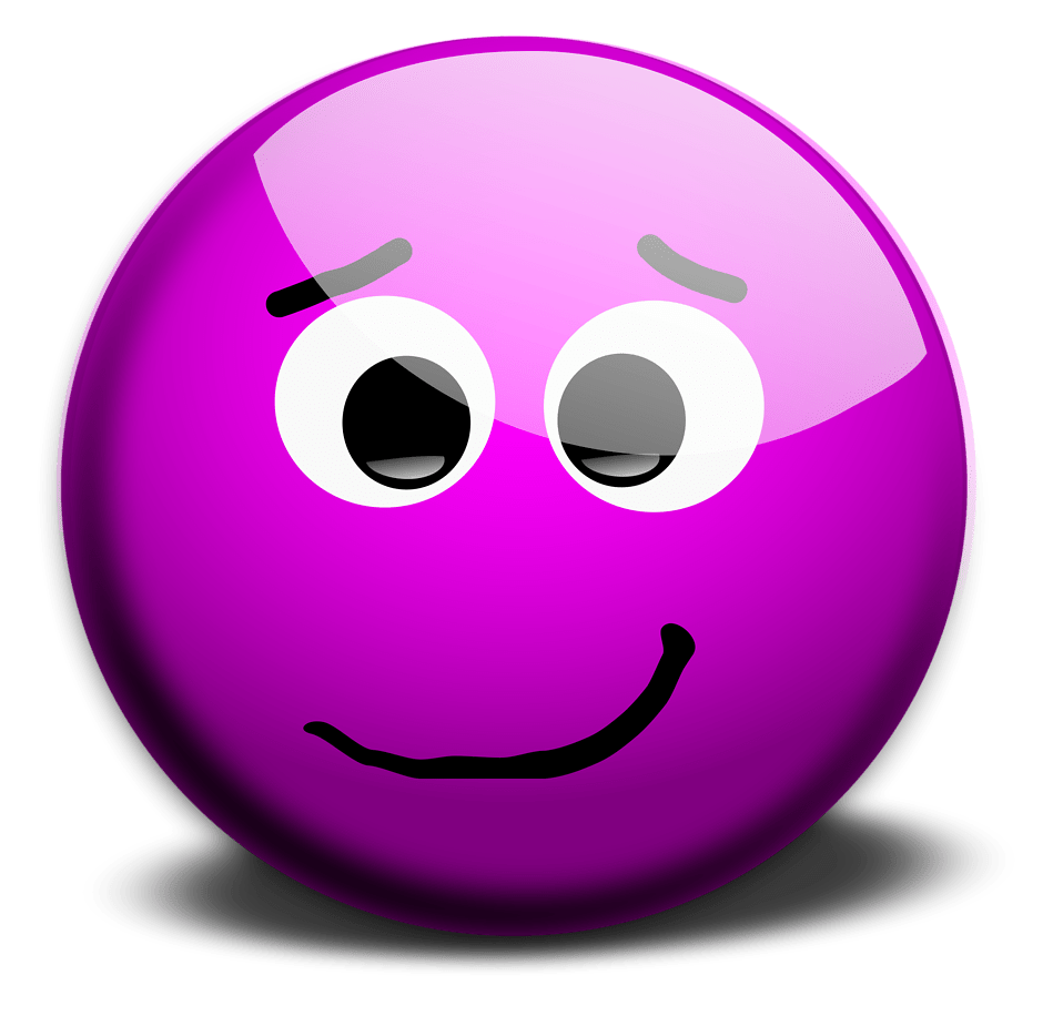 Purple SmileyFace Thumbs Up Illustration of a purple