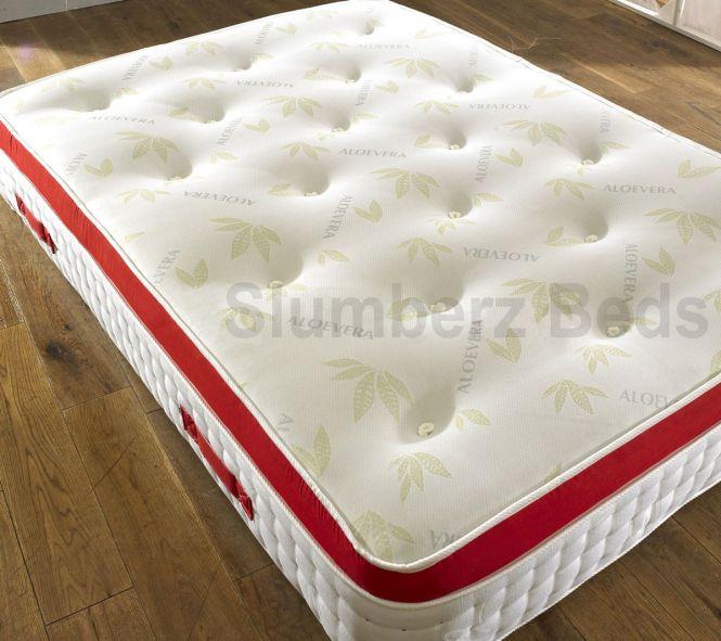 Mat2k 1500 Pocket Pillow Top Memory Foam Mattress With Aloe Vera Http