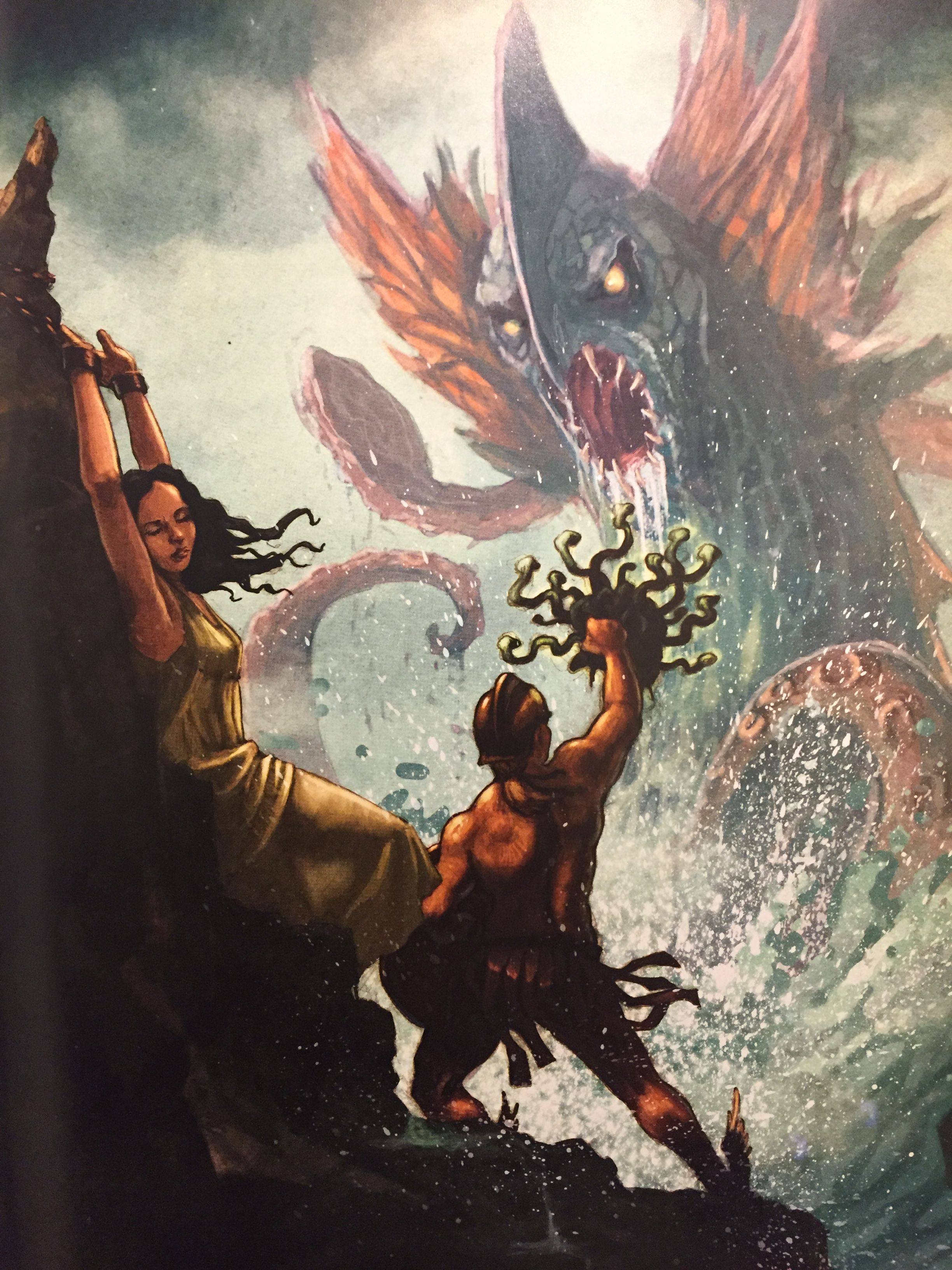 Perseus Saves Andromeda From The Sea Monster With Medusa S