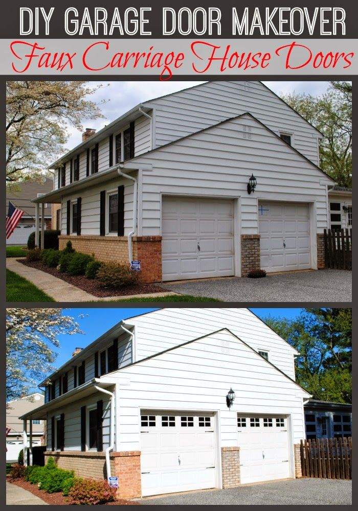 Hometalk DIY Faux Carriage Garage Doors For the Home