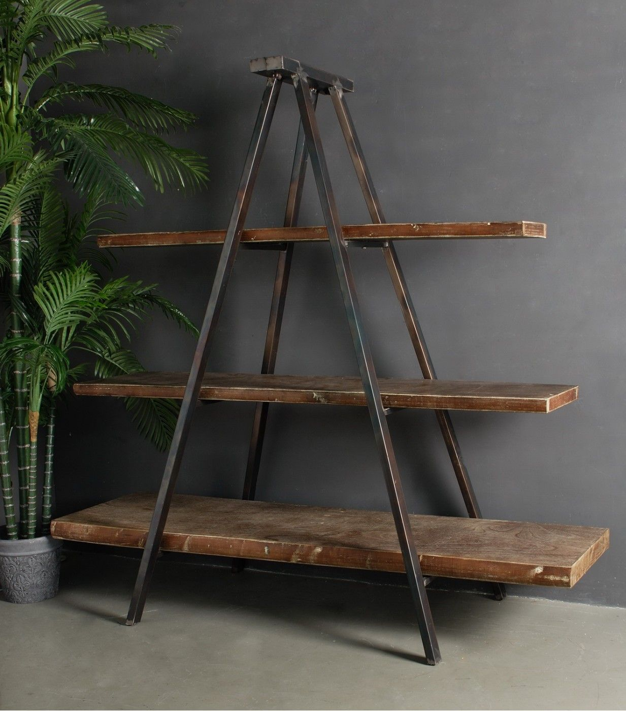 Industrial Tripod Bookcase Industrial style, Book
