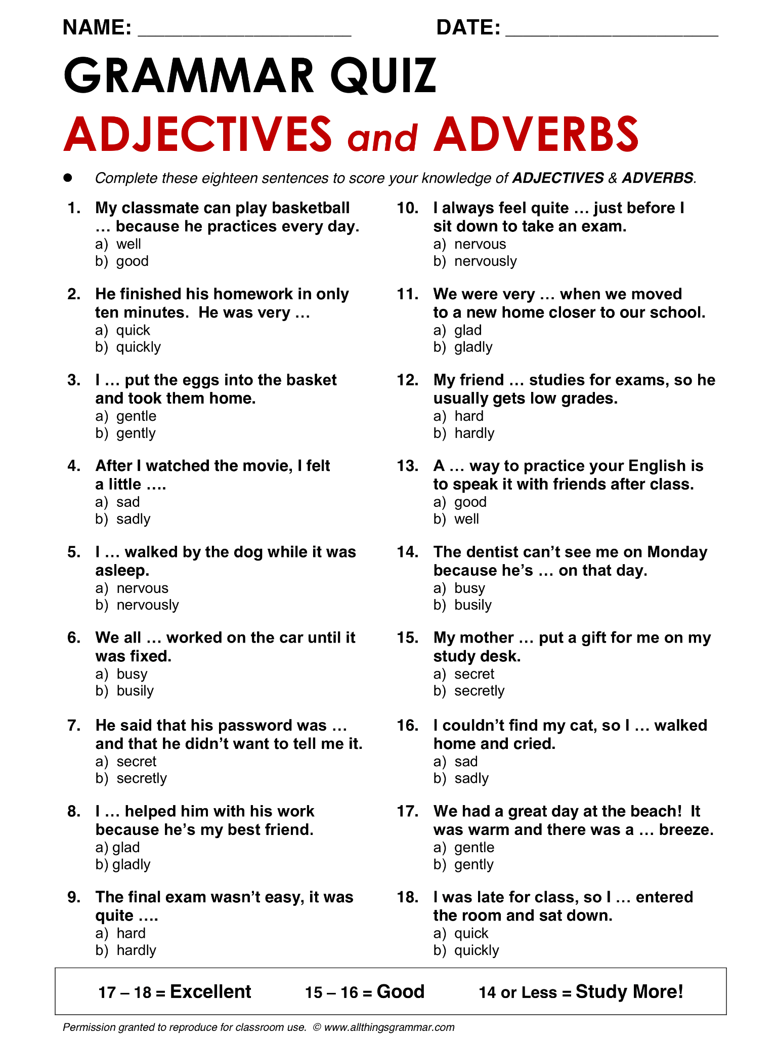 English Grammar Adjectives And Adverbs Lthingsgrammar Adjectives And Adverbs