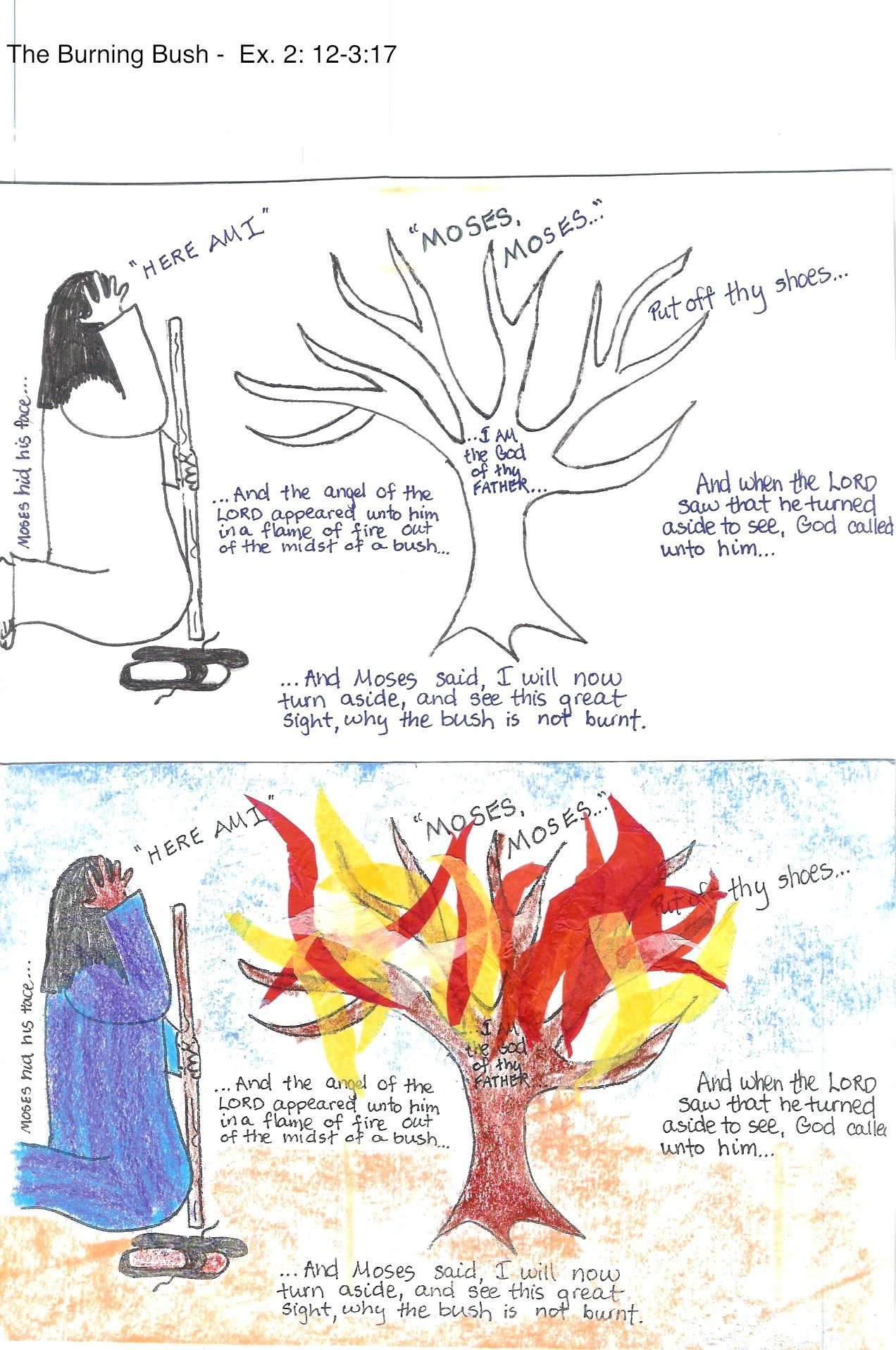 Burning Bush Craft Worksheet