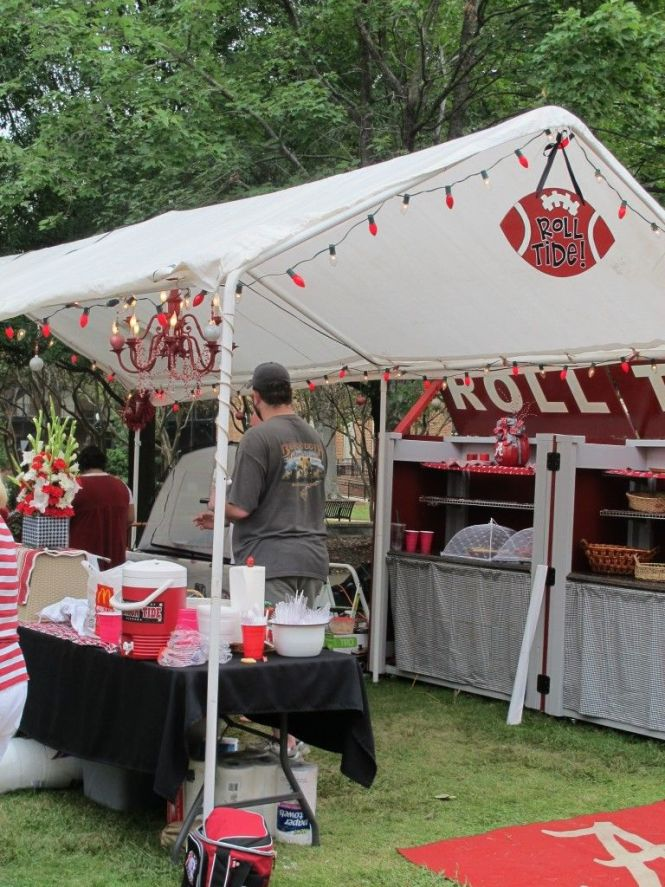 Tuscaloosa Tailgate With Chandelier