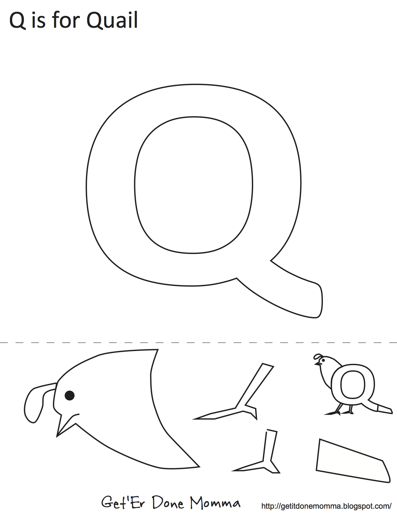 Letter Q Quail