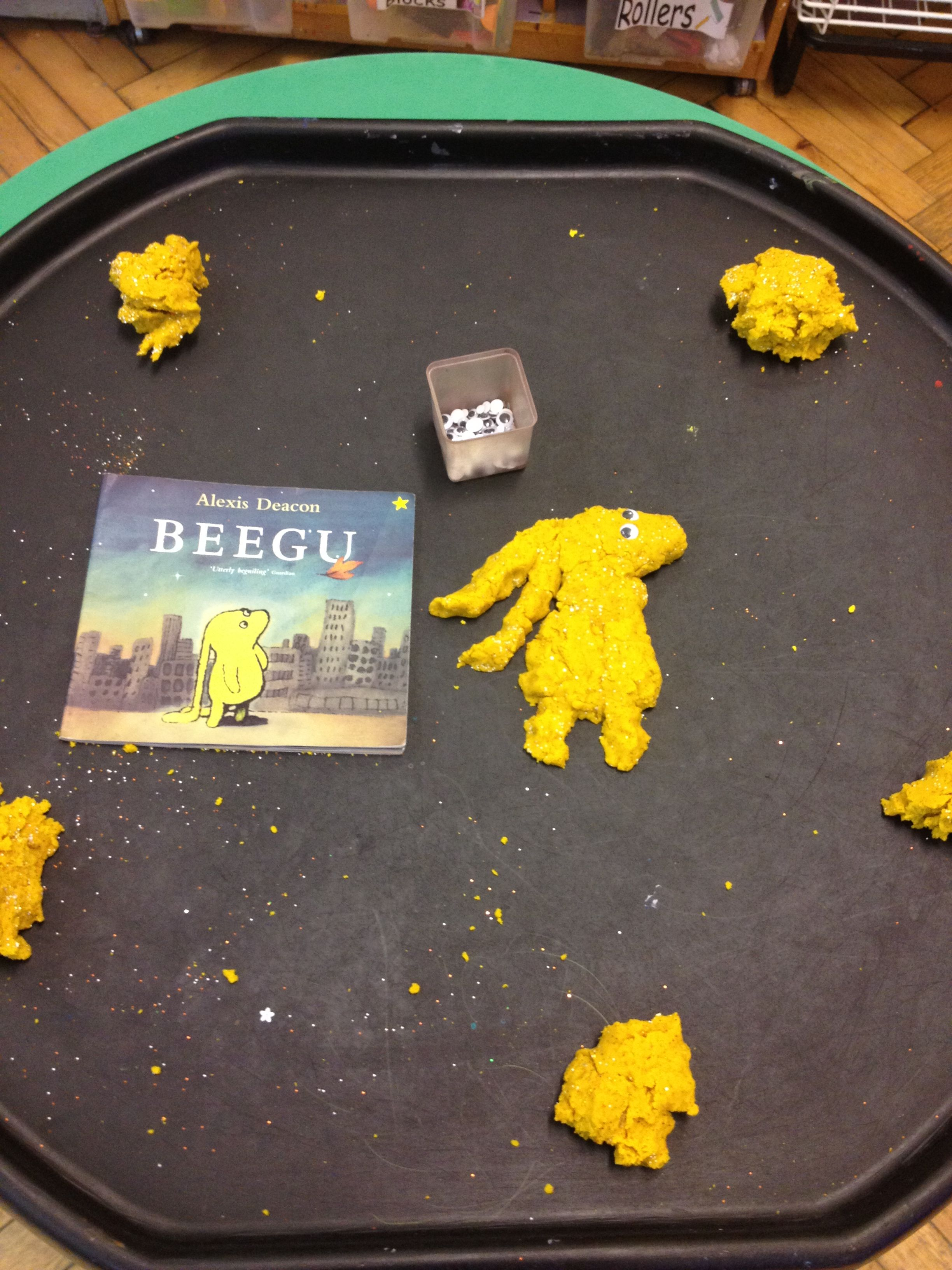 Beegu Play Dough Making With Googly Eyes