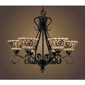 Westmore Lighting Saint Augustine 6 Light Vintage Antique Tiffany Style Chandelier