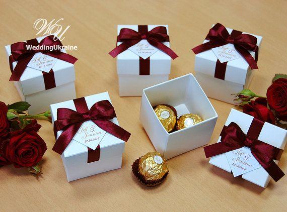 Elegant Wedding Bonbonniere Wedding Favor Boxes By