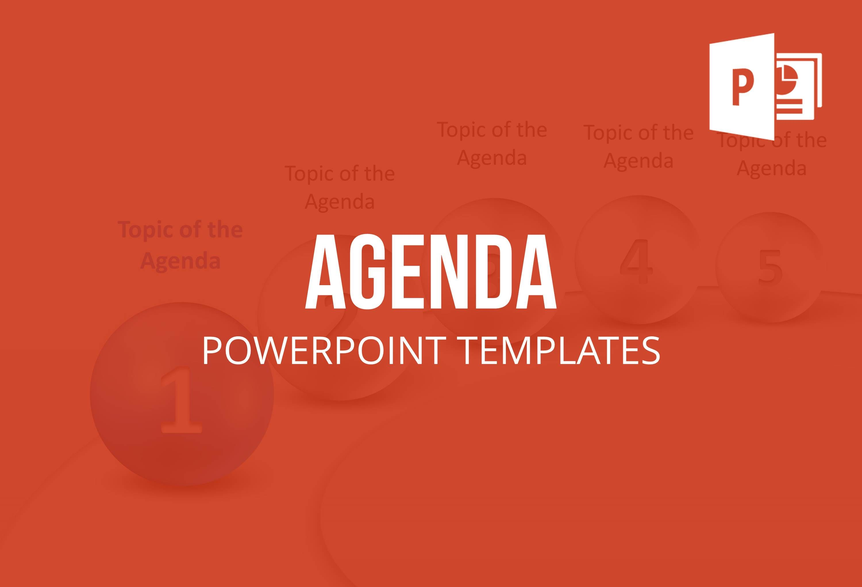 Save time by using these agenda templates for PowerPoint