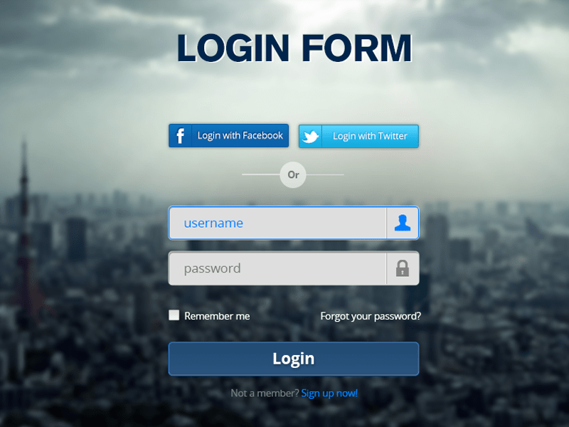 Login Form PSD By, Design and Http//www