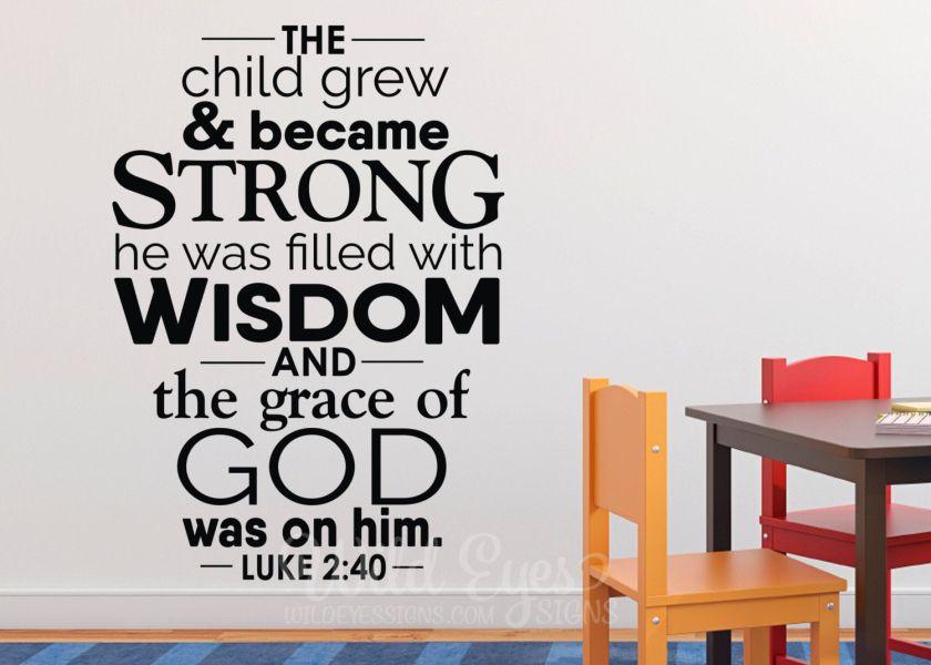 Hasil gambar untuk Luke 2:40