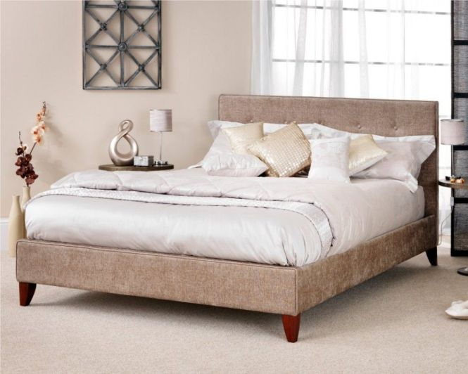 Chelsea Fudge Upholstered Fabric Bed Frame