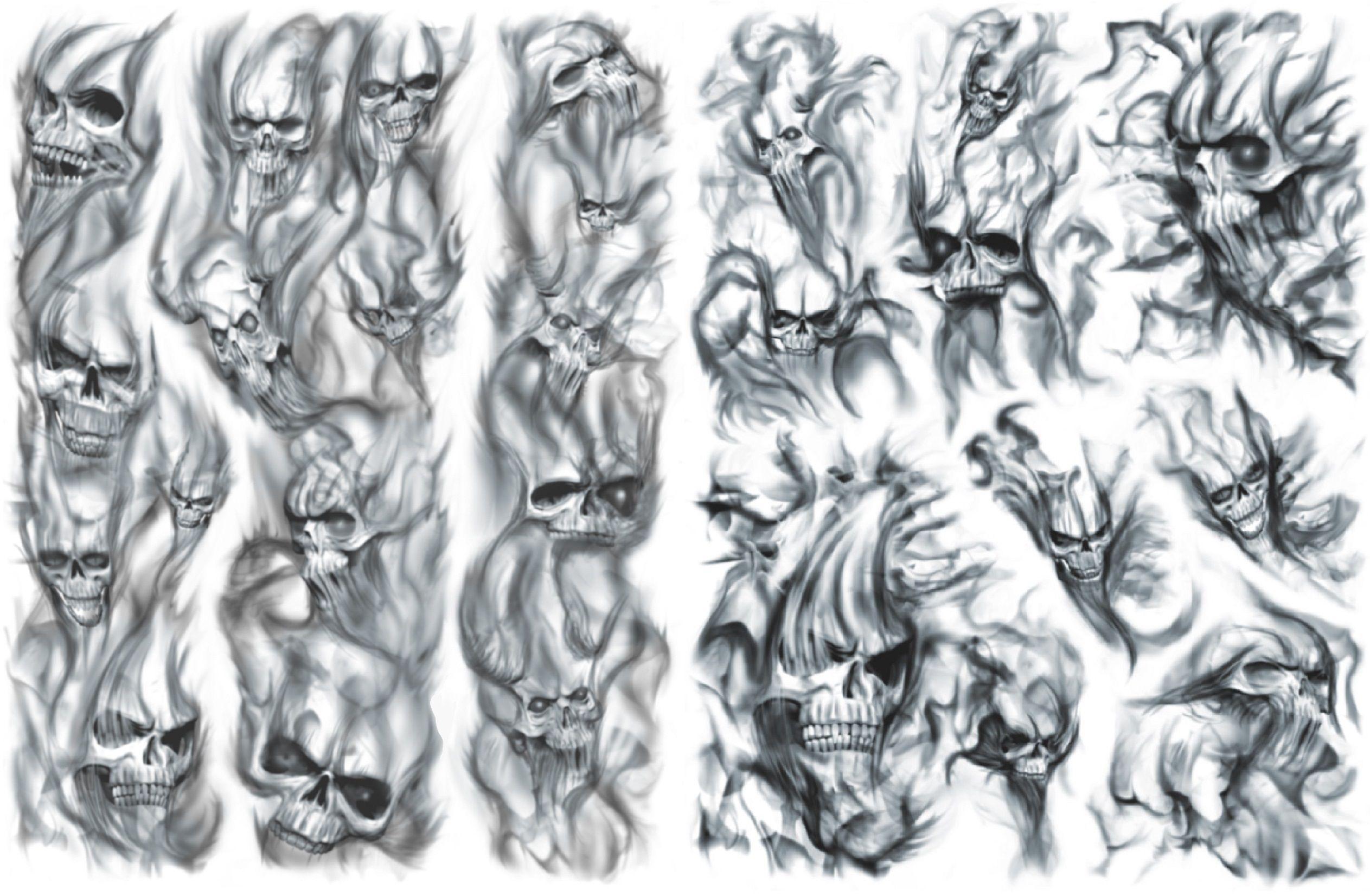 'Skulls in Smoke' Filler Tattoo Tattoos I find
