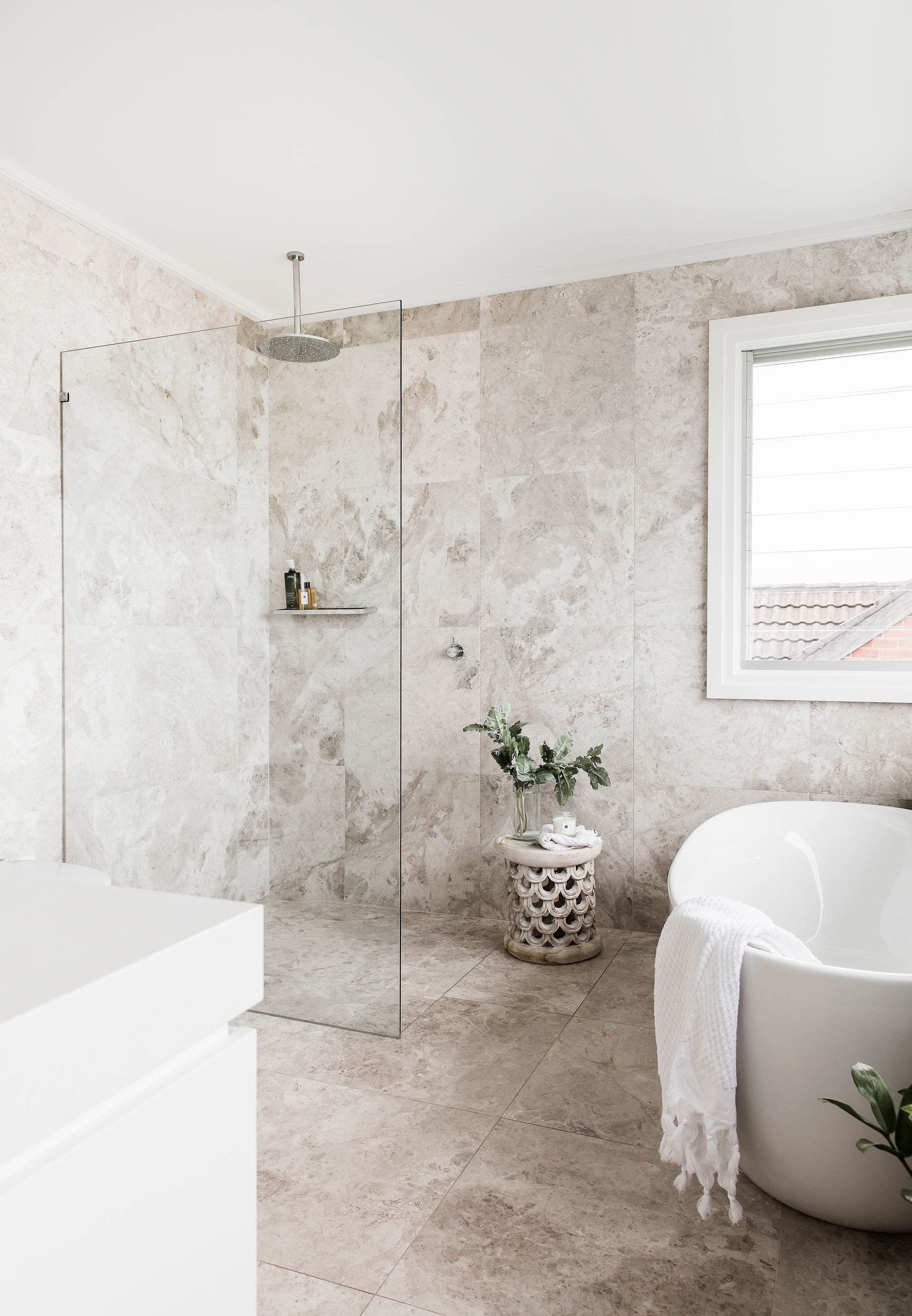 Bathroom from Hamptonsstyle 1950s seaside cottage in