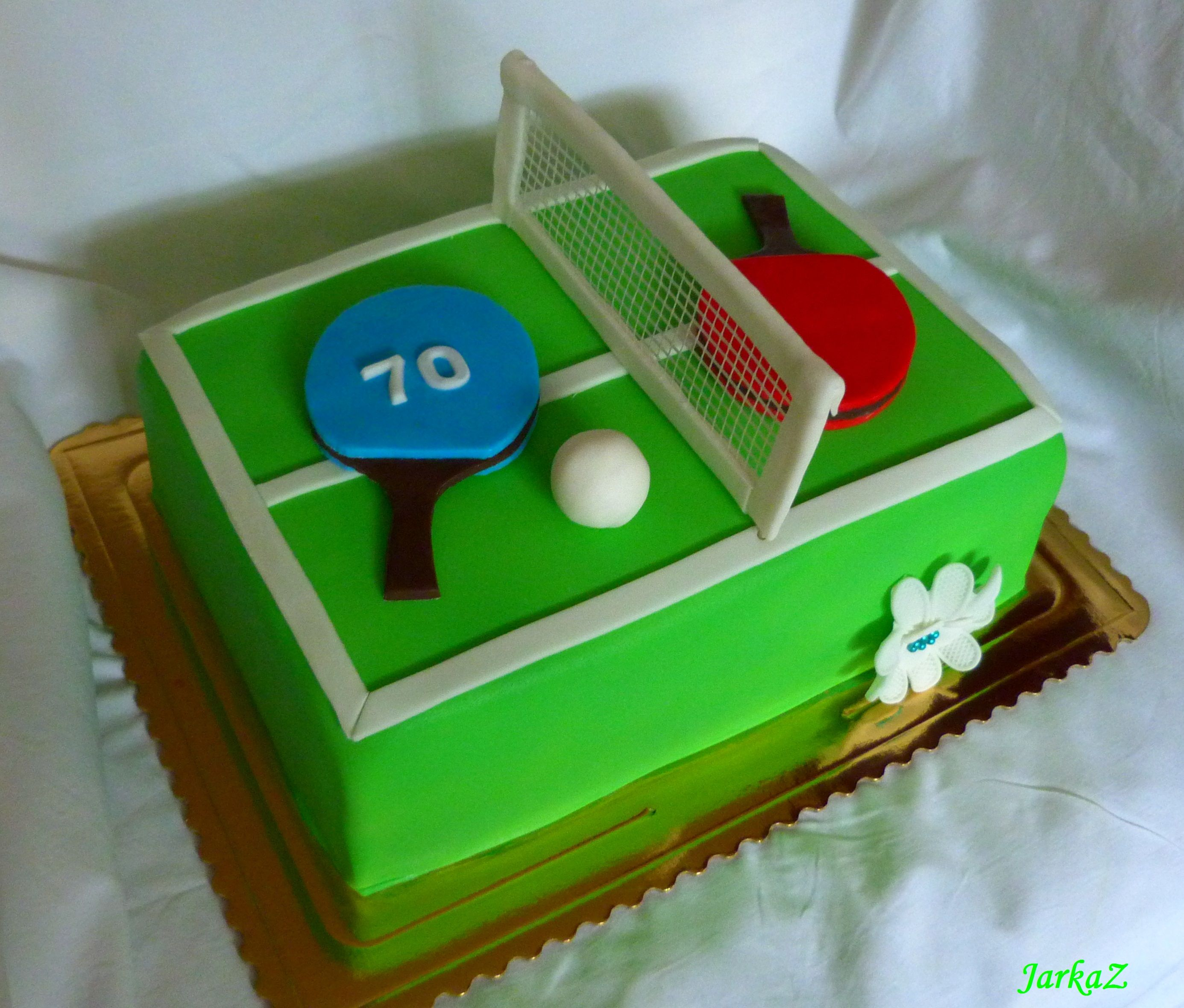 Cake Table Tennis Moje Torty Muffiny Minitorti Ky