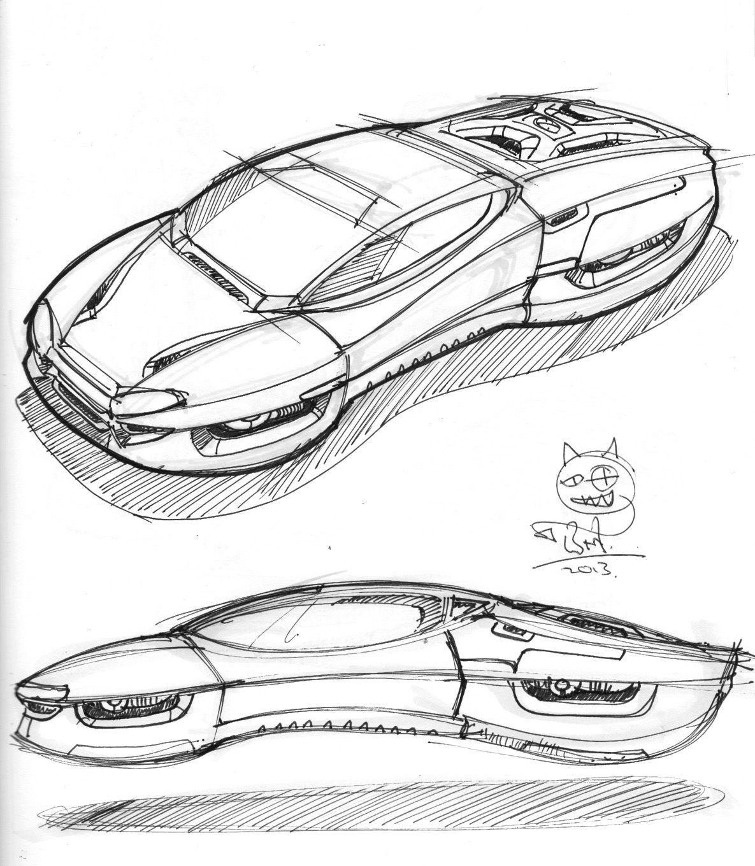 Hover Car Weekend Doodle