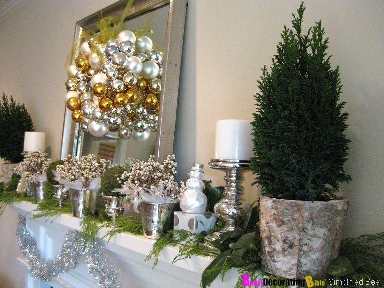 diy friday easy christmas mantel decorating mantels - Diy Christmas Mantel Decorating Ideas