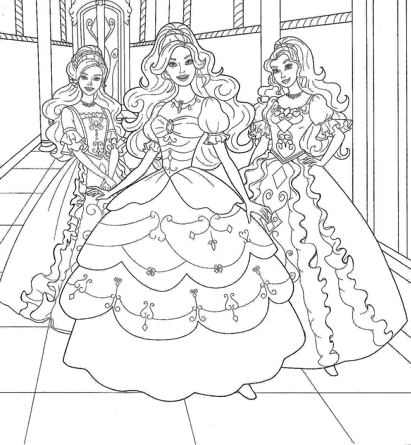 Coloring Pages Cartoon Barbie Printable Free For Girls