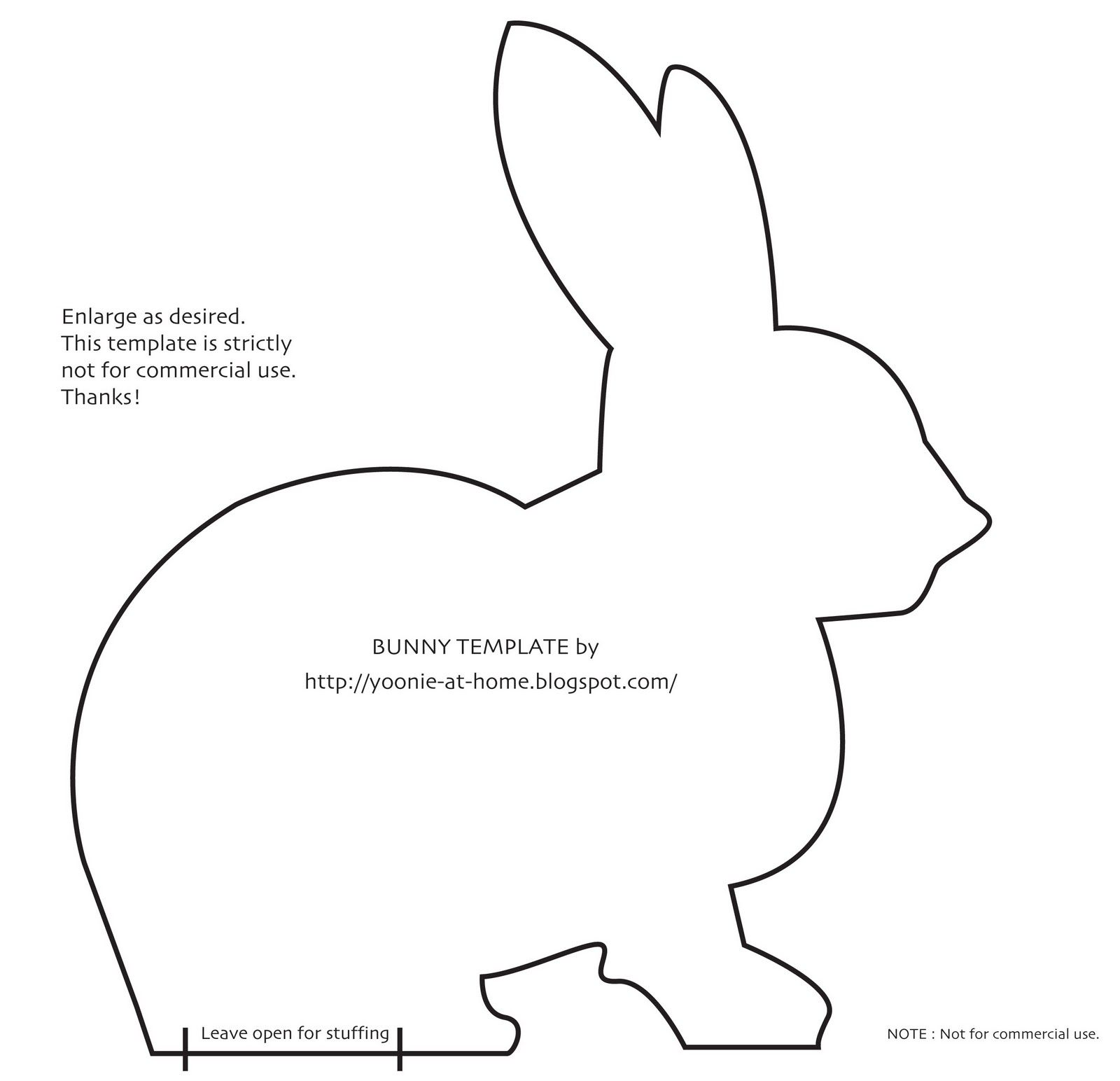 Bunny Profile Template For Tshirt Ideas For Easter