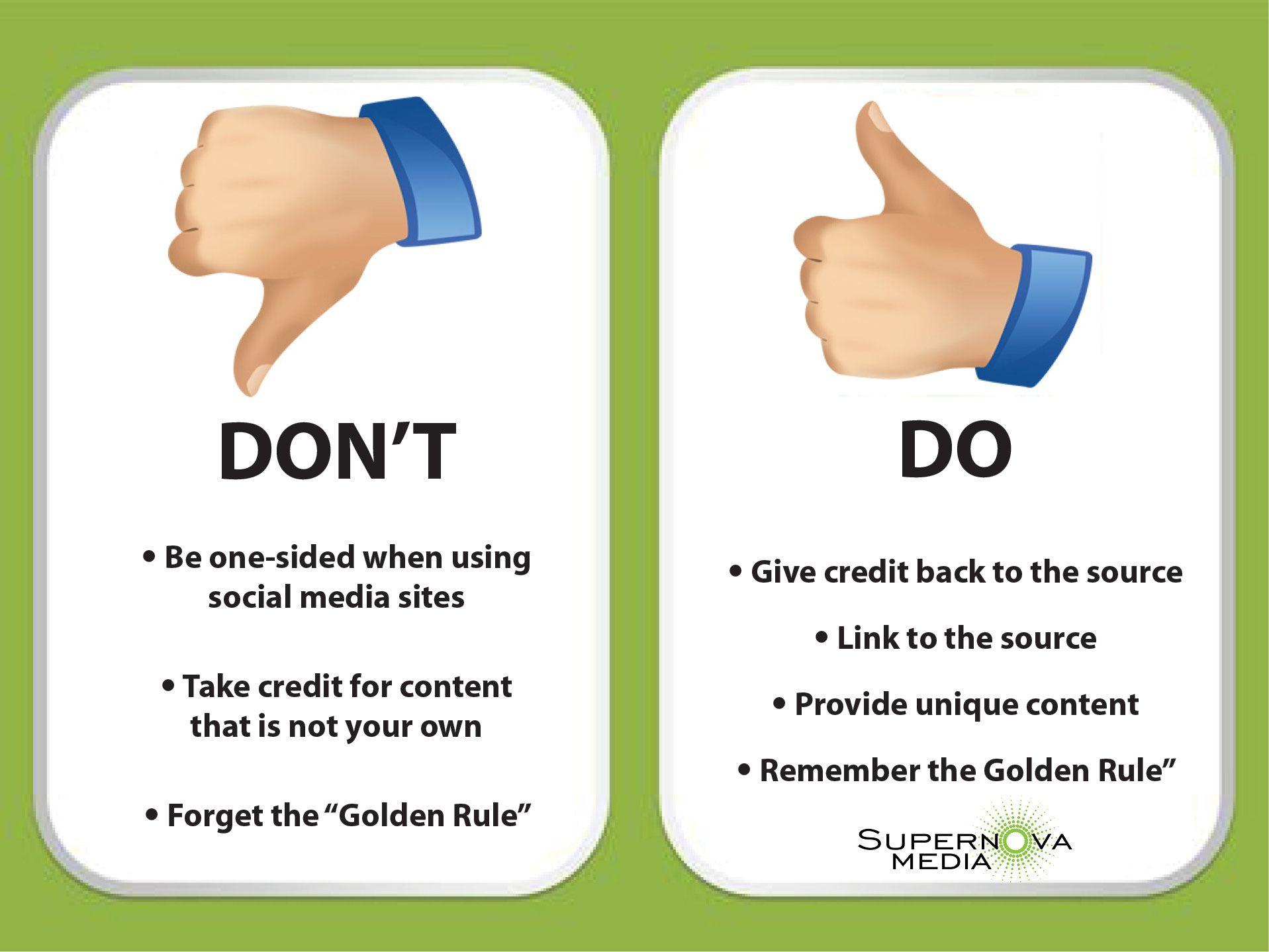 Social Sharing Etiquette