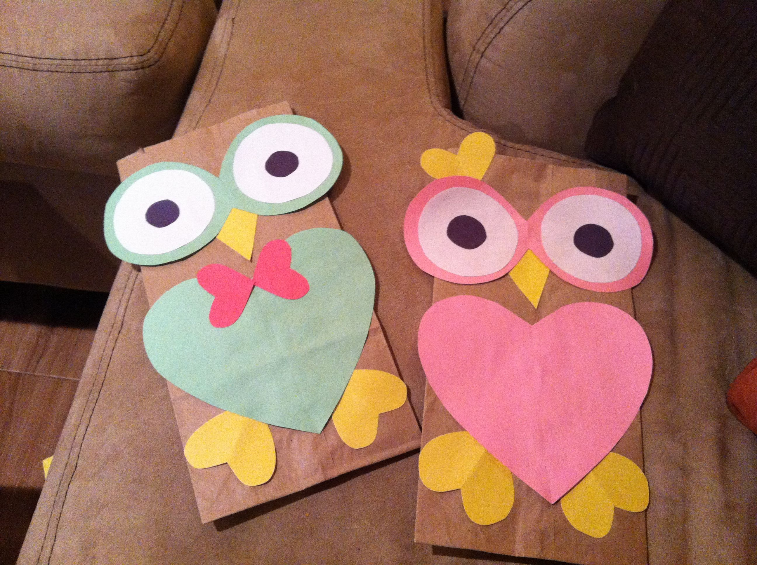 Owl Valentines Bags