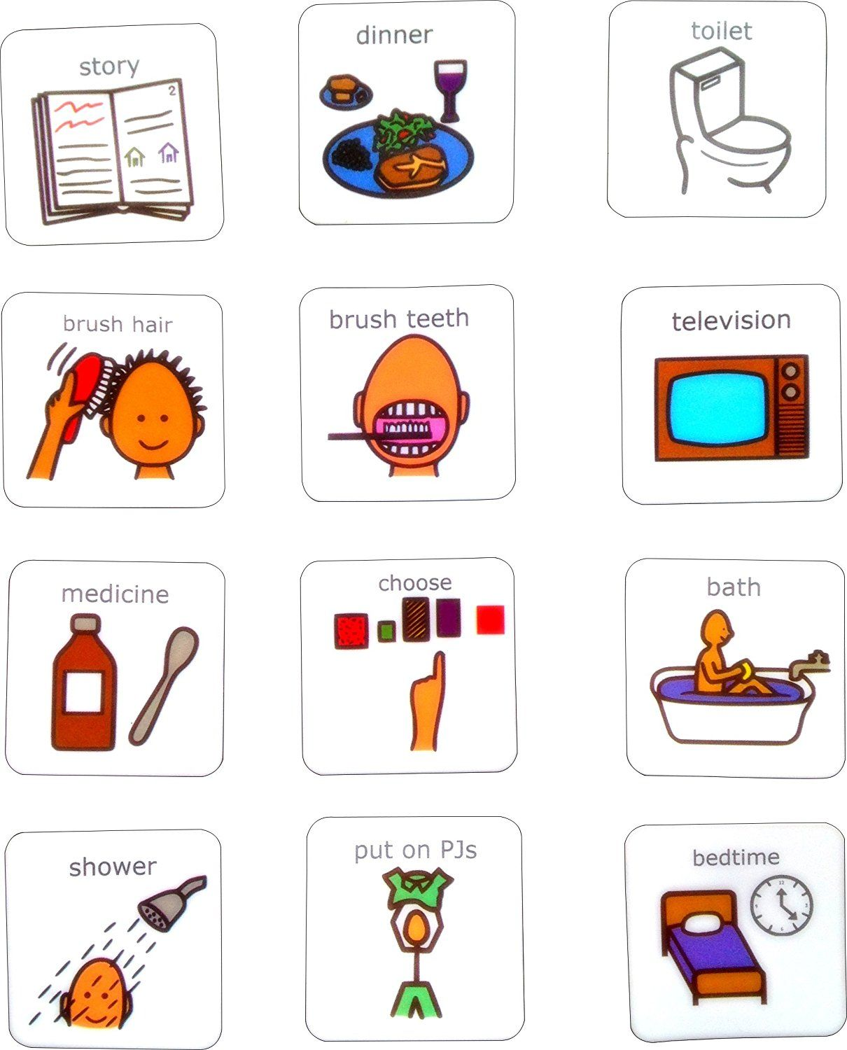 Visual Evening Routine Aac Picture Communication Symbols