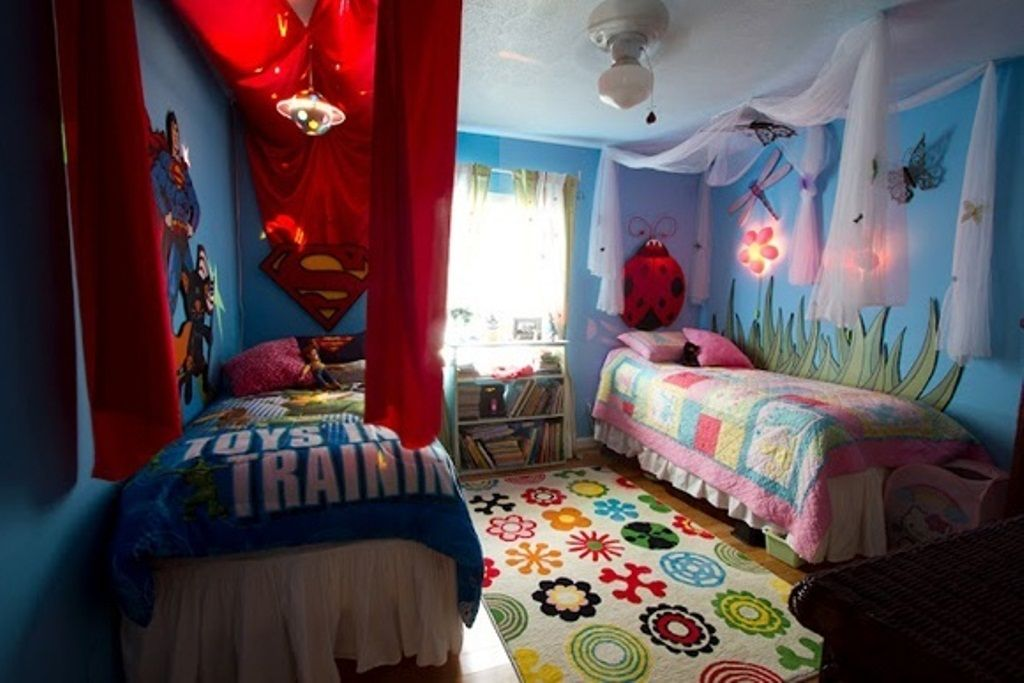 boy girl shared room bedding : teenagers bedroom designs | twins